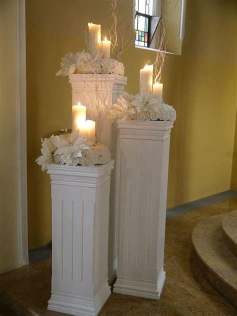 Candle light coloums wedding venue decoration   ??King