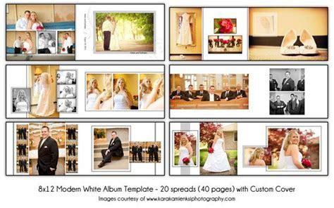 MODERN WHITE   8x12 Digital Wedding Album Template   20