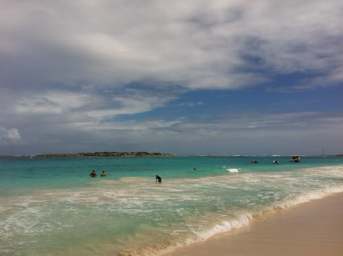 The lovely beach at St. Martin