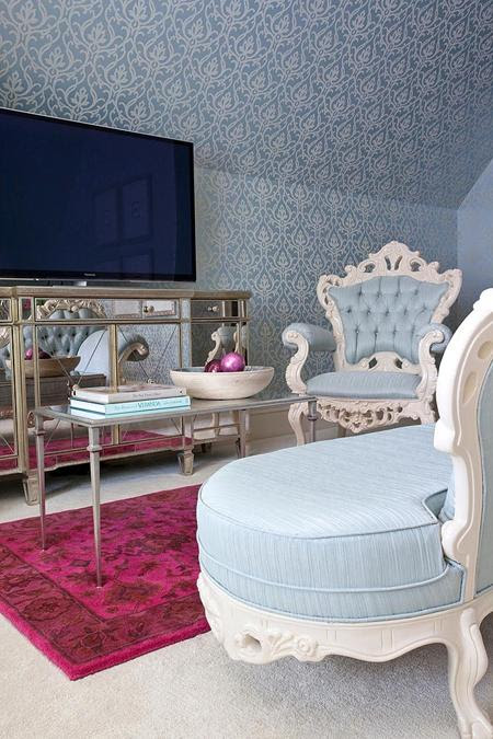 Chic Bedroom Decorating Ideas Enhancing Classic Style with Light Blue Color