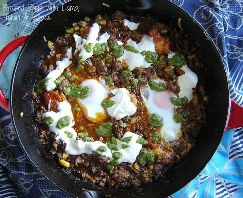 Braised Eggs with Lamb, Tahini & Sumac 2
