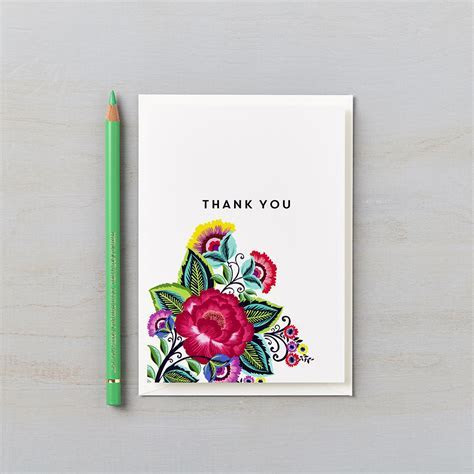 Floral Folk Thank You Card   Lucy Says I Do