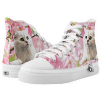Cat Zipz High Top Sneakers, Printed Shoes Printed Printed Shoes