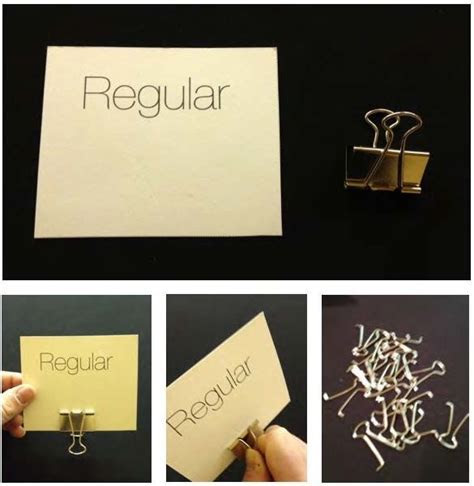 DIY Placecard holder from a binder clip   DIY & Decor