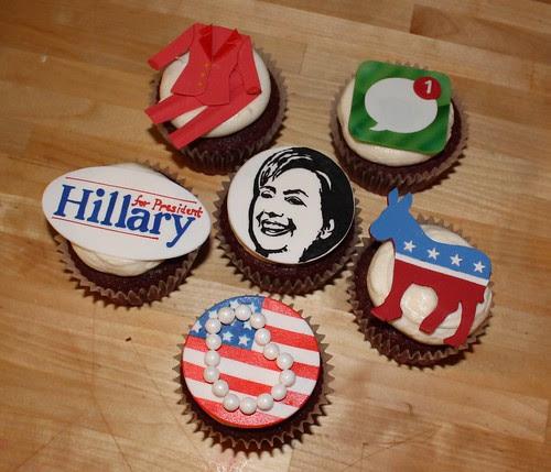 Hillary Clinton cupcakes