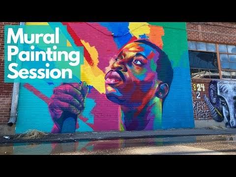Artist Detour Drops a Mural Painting Lesson