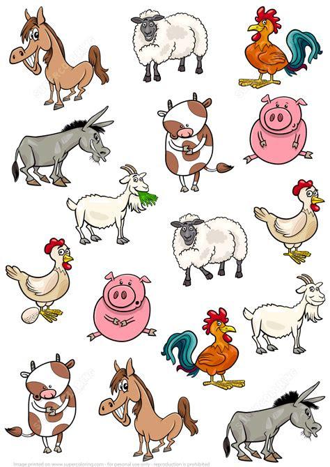 cartoon animals   farm puzzle  printable puzzle