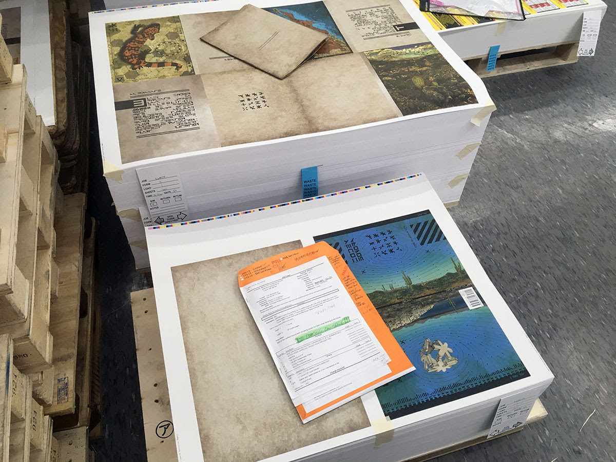 Codex Sonora on the press.