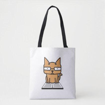 Geek Ginger Cat Tote Bag