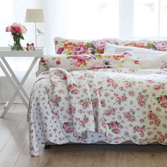 Floral country bedroom | Country bedroom decorating | Bedlinen idea | Image | Housetohome