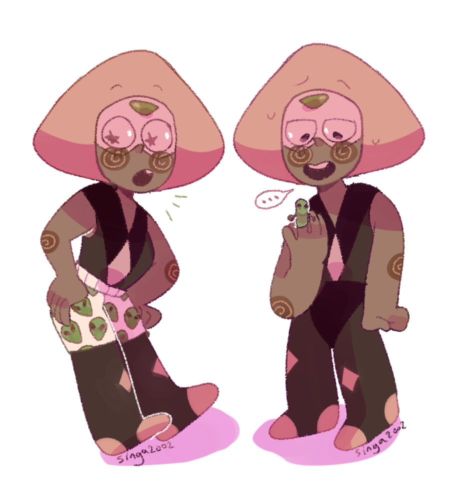 Peridot and her aliens! (her fave is lapis))