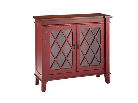 stein world cabinets  glass door cabinet  red royal