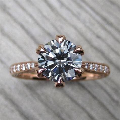 Grey Moissanite Rings & Jewelry by Kristin Coffin Jewelry