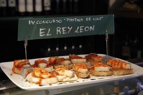 """Restaurante Ugartena con el pintxo """"El Rey León"""" en el IV Concurso Pintxos de Cine CineGourland"""