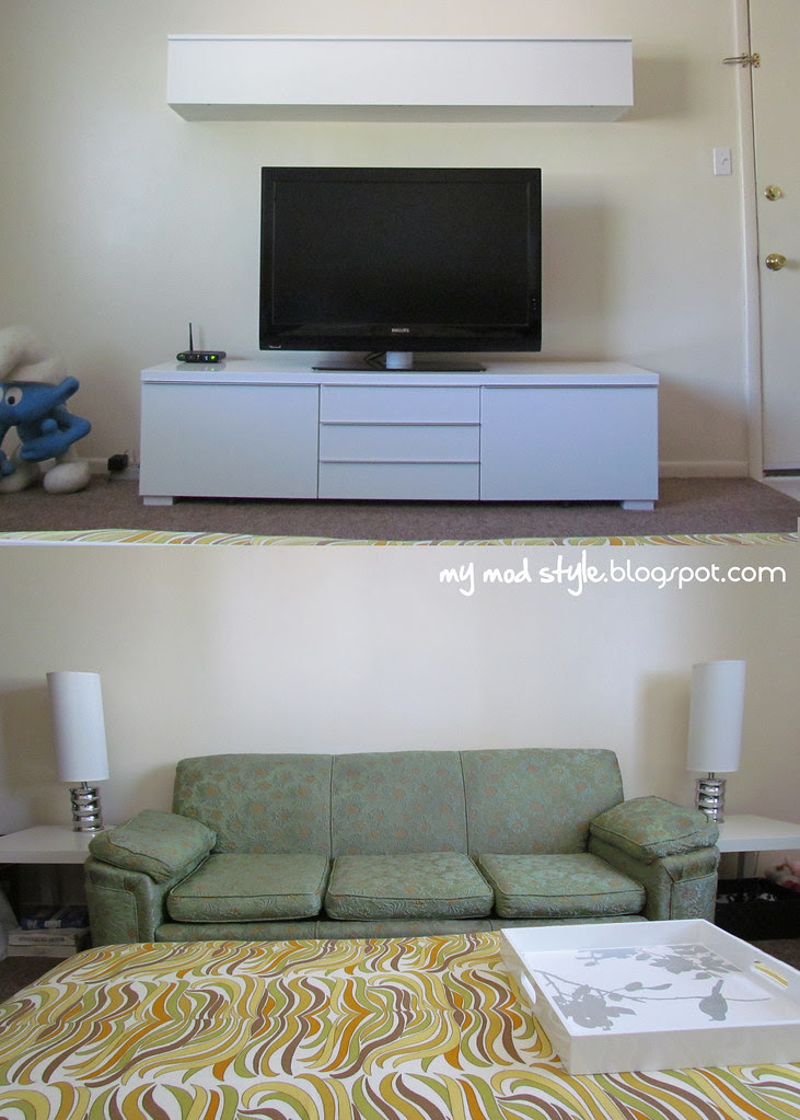 IKEA TV stands and couch