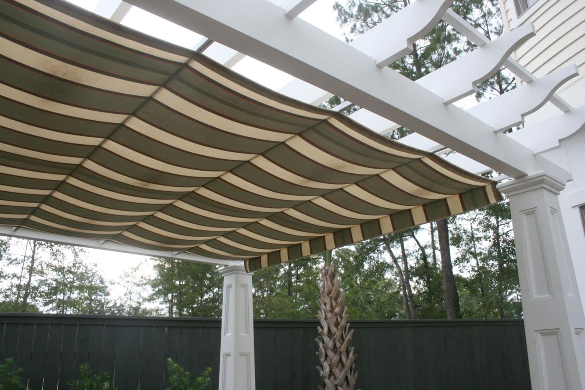 Pergola Canopy In Southern Living Idea House Shadefx Canopies