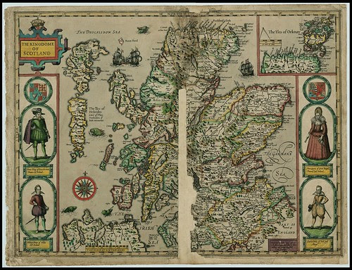 The Kingdome of Scotland - John Speed proof maps 1605-1610