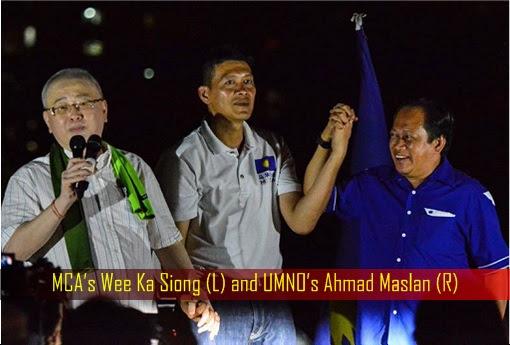 Balakong By-Election - MCA Wee Ka Siong and UMNO Ahmad Maslan