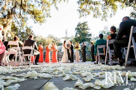 Forsyth Park Ceremony and The Westin Savannah Wedding by