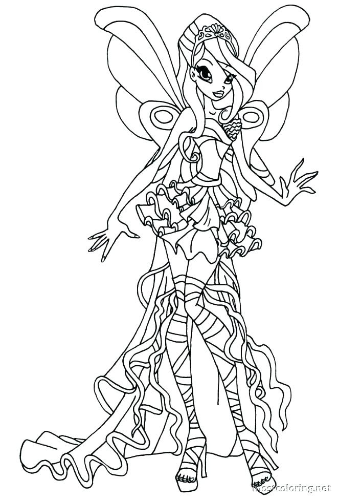 Winx Club Bloomix Coloring Pages At Getcoloringscom Free