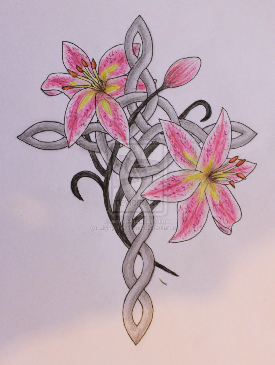 Cross With Flowers Drawing At Getdrawingscom Free For Personal