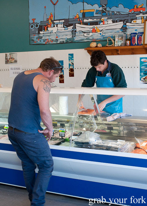Fresh seafood for sale at Kangaroo Island Fresh Seafoods and Takeaway