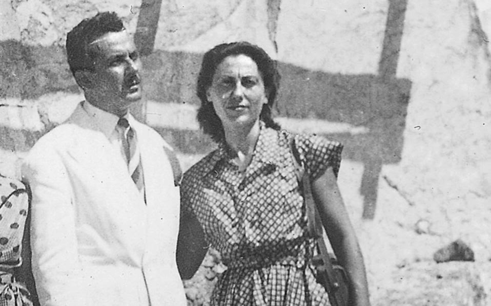 Η Καίτη Δροσου με τον Γιάννη Ρίτσο.