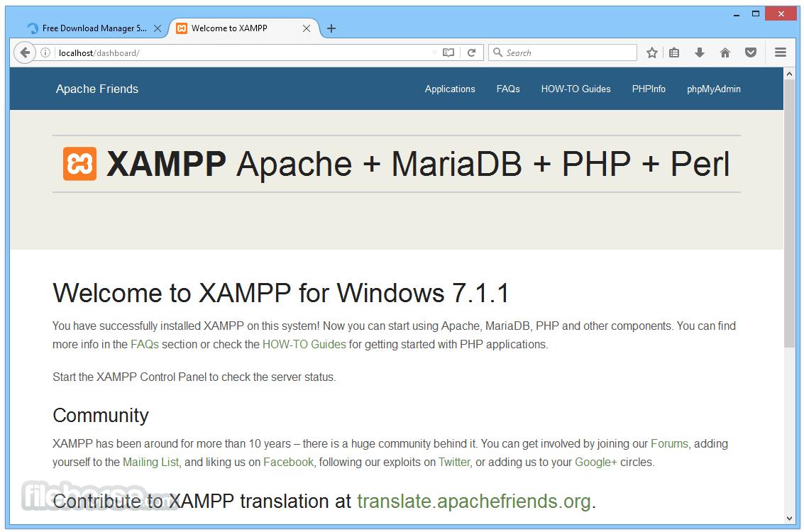 XAMPP 5.6.23 Screenshot 4