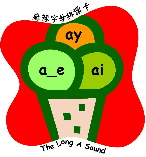 long a sound a-e ai ay 長母音 english 英文