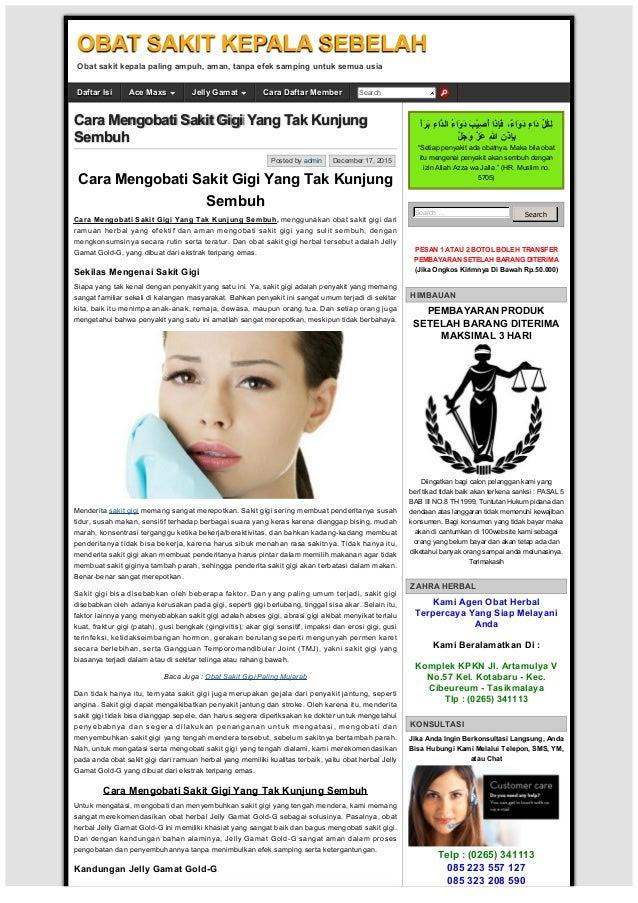 Cara Mengobati Sakit Gigi Yang Tak Kunjung Sembuh OBAT