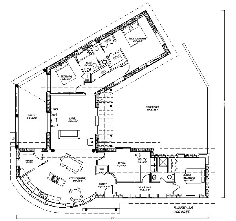 hacienda house plans center courtyard http://www.dreamgreenhomes