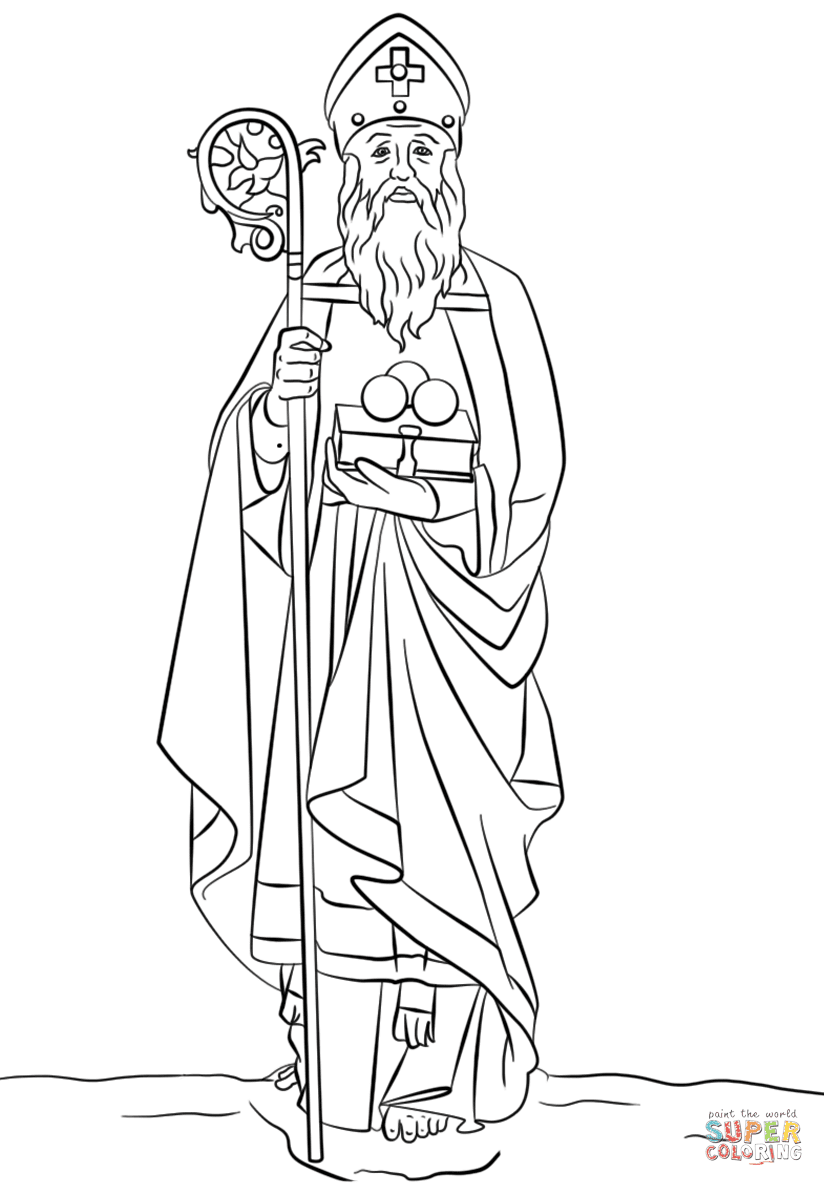 St. Nicholas coloring page  Free Printable Coloring Pages