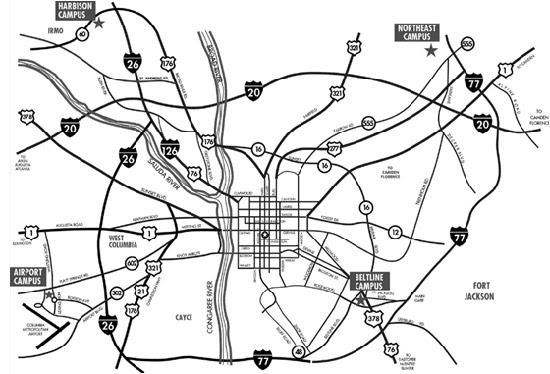 Midlands Tech Beltline Campus Map World Map Atlas