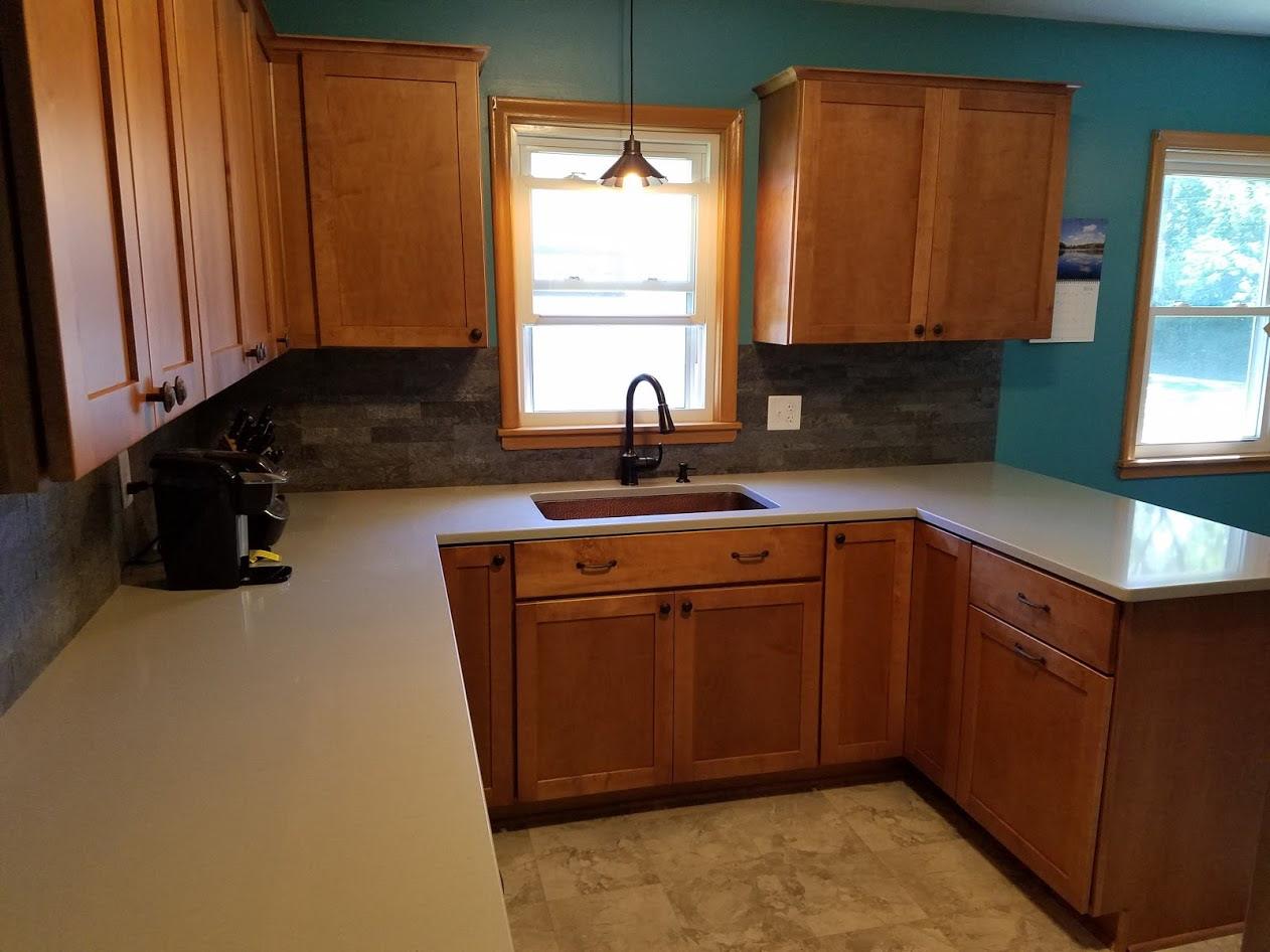 Kitchen Remodel with Maple Cabinets and Hanstone Quartz ...