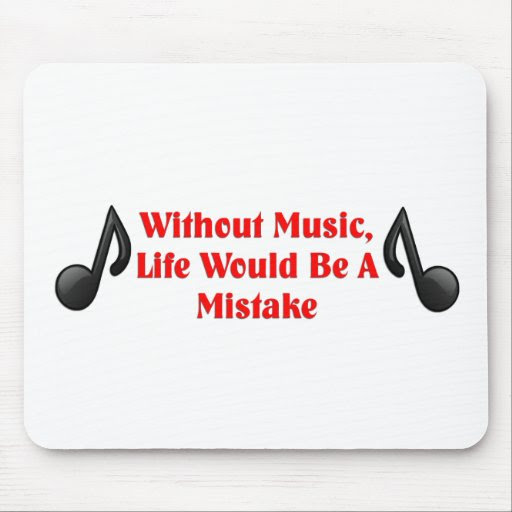 Music Quote Mouse Pad