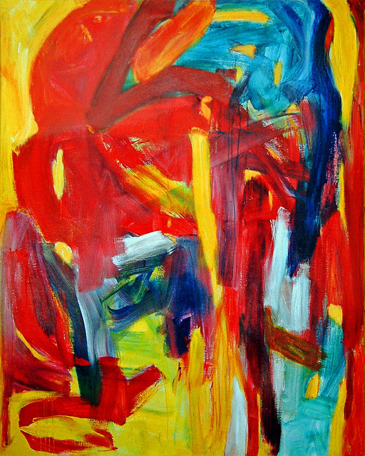 Fathers Must 1992 Abstract Expressionist Colorful