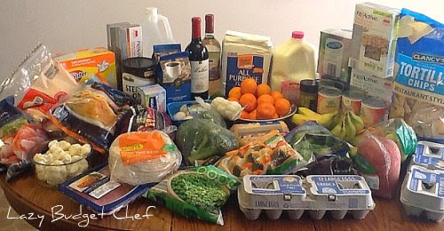 Monthly grocery shopping, January 2012