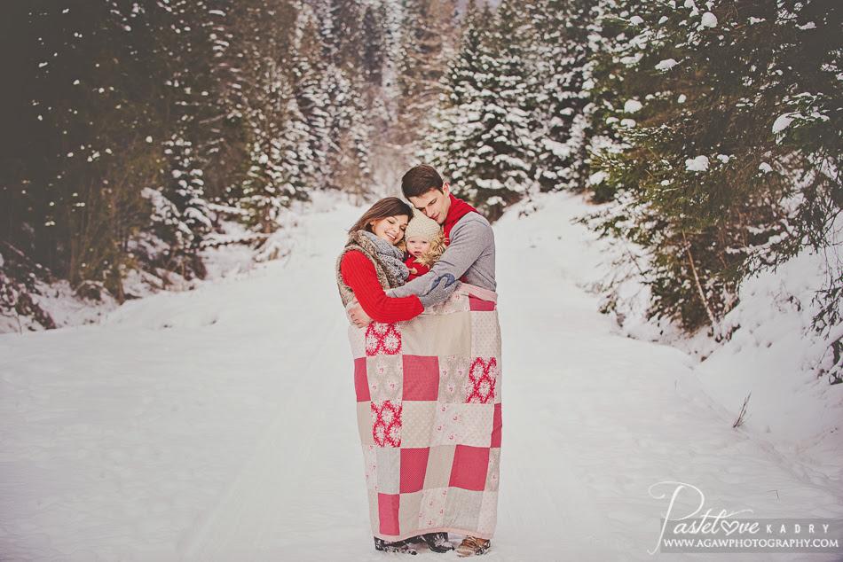 zimowa sesja rodzinna