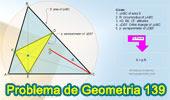 Problema de Geometría 139. Área del Triangulo, Circunradio, Perímetro del Triangulo Órtico.