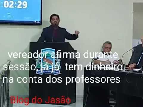 Veja o que falou o Vereador Amstrong: (Hoje 30/10/17),durante a sessão da Câmara, sobre o pagamento dos servidores...