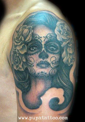 Tatuaje Dia De Los Muertos Pupa Tattoo Granada A Photo On Flickriver