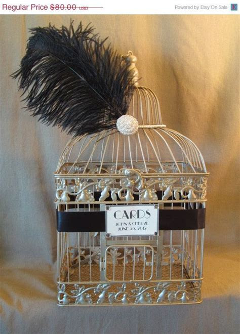 Hollywood Glam Wedding Card Box With Pearls and Ostrich
