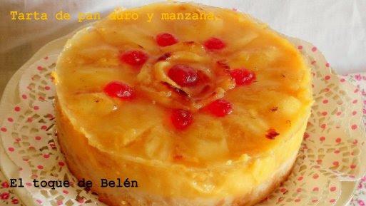 TARTA PAN DURO Y MANZANA CARAMELIZADA