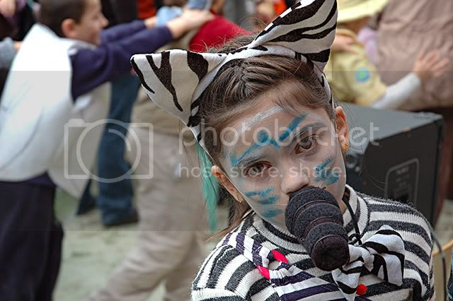 A Mouse-Like Zebra Costume