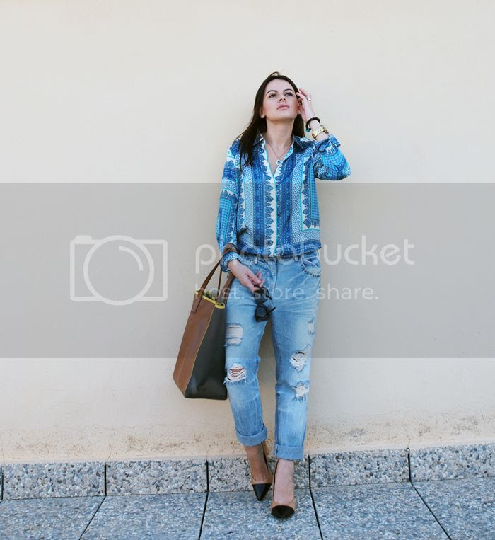 Scarf Print with jeans