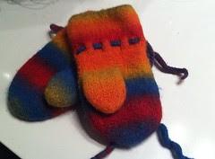 Rainbow mittens #3