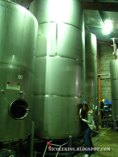 posing in allandale winery distillation