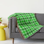 Forest Green on Green Tartan Plaid Throw Blanket