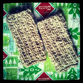 Gauntlets on their way to keep someone's hands warm... #knitstagram #handknit #knitting