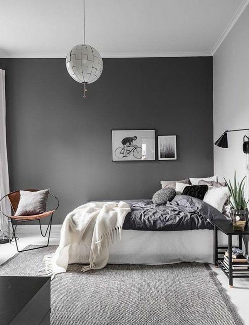Schlafzimmer Ideen Wandgestaltung Grau Zymut